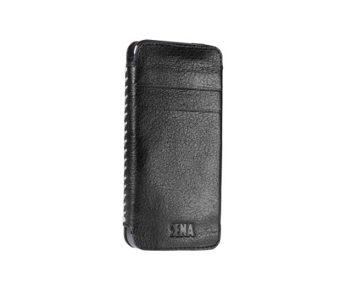Sena Lusio leather pouch case For iphone 5 Black /Gray