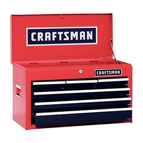 Craftsman 6 Drawer Heavy Duty Top Tool Chest, All Steel Construction U0026  Smooth Glide Drawers