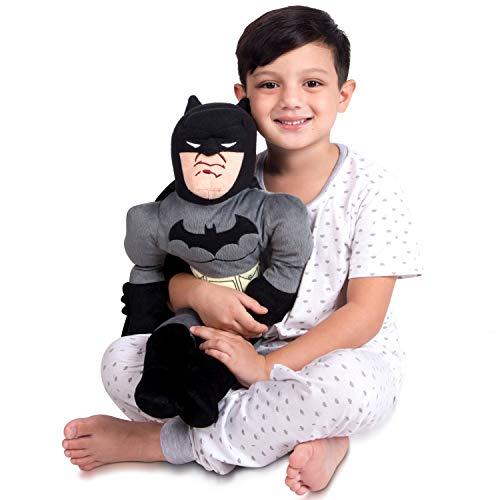 Franco Kids Bedding Super Soft Plush Snuggle Cuddle Pillow, One Size, DC Batman (Baby Batman Plush)