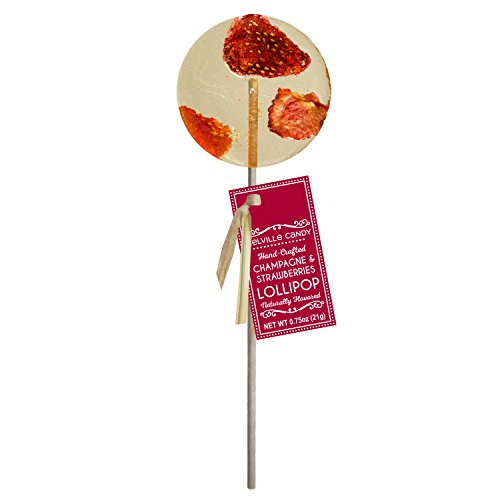 Strawberry Champagne Gourmet Cocktail Lollipop (12 Count)