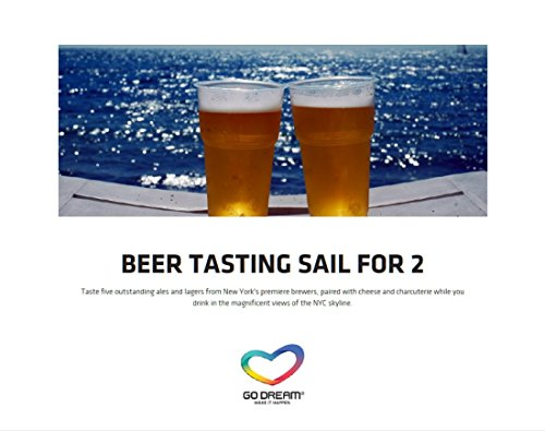 Beer Tasting Sailing for Two in New York Experience Gift Card NYC - GO DREAM - Sent in a Gift Package