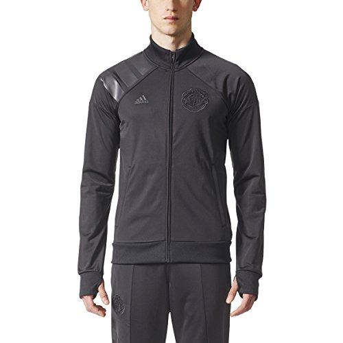 Manchester United Shoes - adidas Men's Manchester United Track Jacket (X-Large) Black