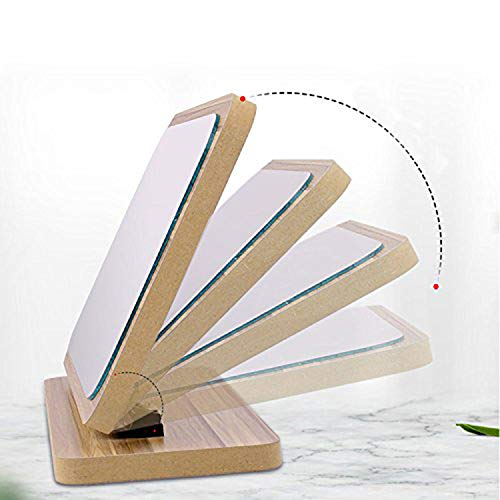 GOHIDE High Definition Cosmetic Mirror Wooden HD Makeup Mirror Simple Beauty Mirror Dressing Folding Simple Portable Large Desktop by GOHIDE (Image #4)