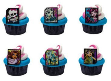 Monster High Cupcake Rings Party of 24 (Cake Topper High Monster)