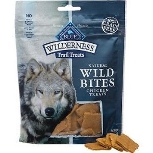 BLUE Wilderness Trail Treats Grain Free Wild Bites Chicken Recipe Dog Treats 4-oz (Buffalo Blue Small Bites)