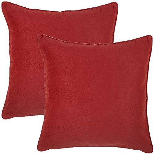 Super Soft Faux Suede Decorative Throw Pillow Cover with Zipper - 18