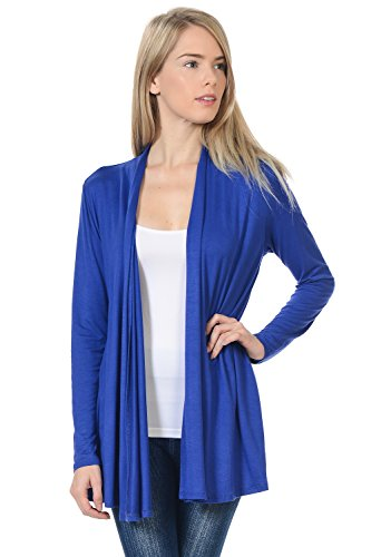 - Pastel by Vivienne Women's Long Sleeve Jersey Cardigan X-Large Royal Blue