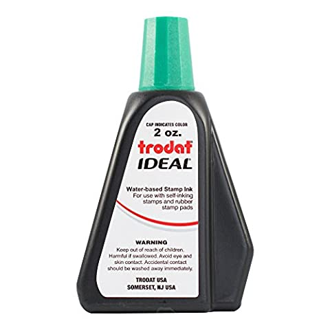 Trodat 53216 Ideal Premium Replacement Ink for Use with Most Self Inking and Rubber Stamp Pads, 2 ounce, - Products Rubber Stamp