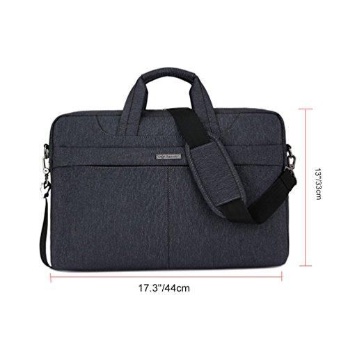 """Vbiger 15.6""""Laptop passt tasche Wasserdichte Business Aktentasche Klassische Schultertasche Stoßfeste Umhängetasche Schwarz ZqOnwU"""
