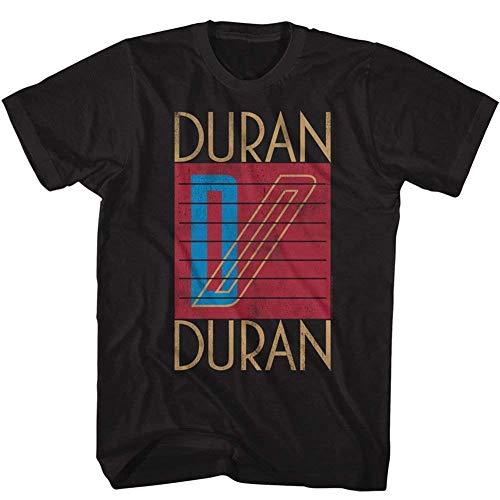 American Classics Duran Duran Music Logo Adult Short Sleeve T Shirt XL, Black