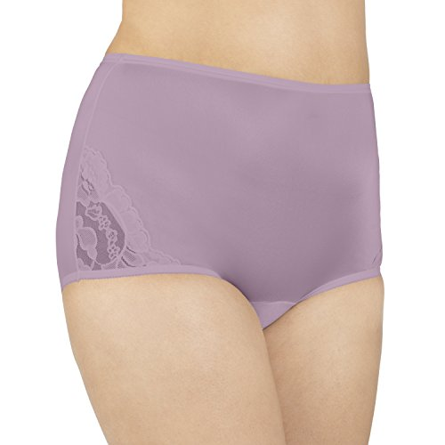 Vanity Fair Women's Perfectly Yours Lace Nouveau Brief Panty 13001, Plum Perfect, 2X-Large/9
