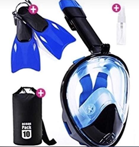 SNORKELSTAR Snorkel Mask Set (Mask L/XL Fins M New)