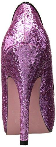 Rosado 12 nbsp;cm patente Vieira 7 con recortar Bomba Princess leg purpurina de y arco avenue EIqw6nZ