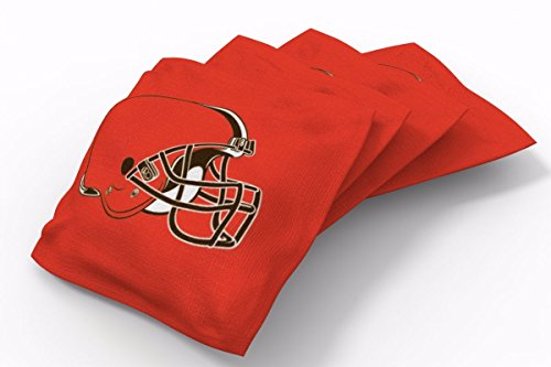 PROLINE 6x6 NFL Cleveland Browns Cornhole Bean Bags - Solid Design (Cleveland Browns Cornhole Bags)
