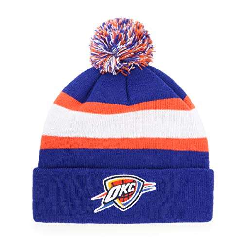 OTS NBA Oklahoma City Thunder Male Rush Down Cuff Knit Cap with Pom, Royal, One Size for $<!--$20.00-->