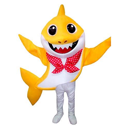 Shark Mascot Costumes - Baby Shark Yellow Mascot Character Costume