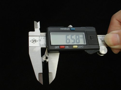 Bear Motion Stanless Steel 6-Inch Digital Caliper with Large LCD Screen and Instant SAE-Metric Conversion ()