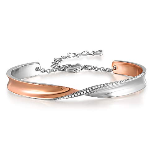 (Forever and Ever Infinity Bangle Bracelet Birthday for Women,Crystals from Swarovski 7