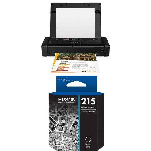 Epson WorkForce WF-100 Wireless Mobile Printer and T215 Standard-capacity Black Ink Cartridge by Epson
