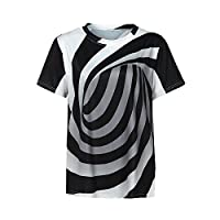 Hot Unisex 3D Vortex Printing Short Sleeve T-Shirt Blouse by Napoo-Men Shirt