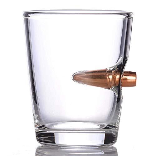 .308 Real Solid Copper Projectile Hand Blown Shot Glass - Set of 6 by Old Southern Brass (Image #1)