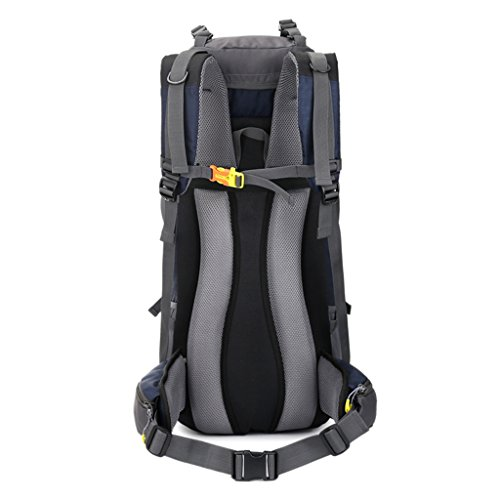 Universal Capacity Nylon Large Shoulders Seasons Outdoor 60L Travel Color Black Waterproof Women Four Backpack And Black Bags Men zyy Orange Sports AqPx6wF