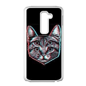 LG G2 Cell Phone Case White 3D Cat TLS Custom Cell Phone Cases