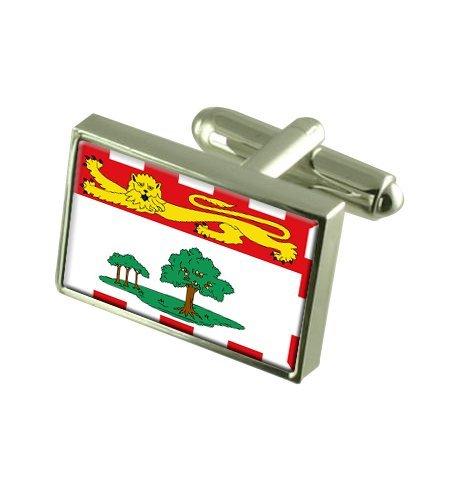 Île-du-Prince-Édouard Boutons de manchette drapeau avec select pochette cadeaux