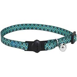 "Aspen Pet Breakaway Fashion Collar, 3/8"" x 8-12"", Sub Geo Blue"