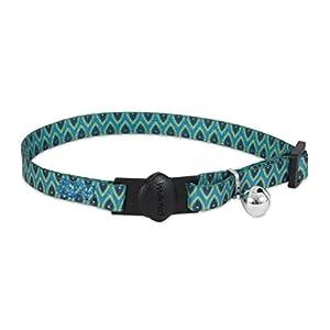 Petmate Aspen Pet Breakaway Fashion Collar, 3/8″ x 8-12″, Sub Geo Blue