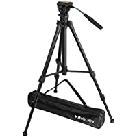 ZoMEI Professional Fluid Head Tripod with 1/4 Screw High Performance Tripod System for Canon Nikon Sony DSLR Camera Camcorder 360 Degrees Rotation Shooting Adjustable Height