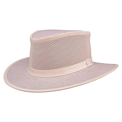 SOLAIR HATS Explorer by American Hat Makers Mesh Leather Hat - Solair 3 Light