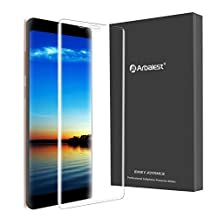 Galaxy Note 8 Screen Protector HD Tempered Glass, Arbalest 3D Curved Coverage / Anti-Scratch / Clear Bubble-Free Screen Protector Film with 1 Clear Case for Samsung Galaxy Note 8 [Case Friendly]