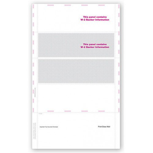 Blank Self Mailer 4 Up W 2 Tax Form