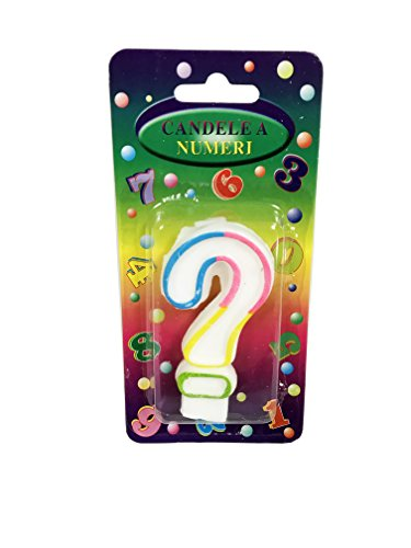(MeowInc. Numerical Birthday Candles - Number, Color, and Question Mark Variations and 2.5 Inch 24-Pack Candles with Holders (?, Rainbow))