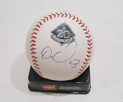 Carlos Gonzales Signed Official Colorado Rockies Anniversary Baseball w/COA by KdSignatures