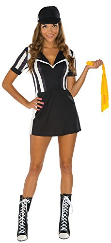 Ladies Football Halloween Costume (Rubie's Women's Referee Costume Dress, Multi, Small)