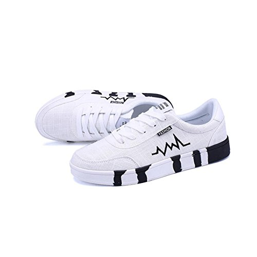 Outdoor white Shoes Casual HUAN Sneakers black Shoes Exercise and Walking Mens Shoes Canvas Breathable Pnnw04qF