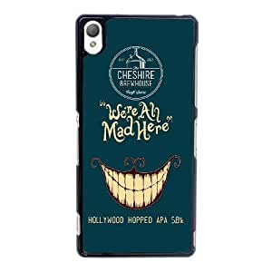 Sony Xperia Z3 Cell Phone Case Animated movie Alice in Wonderland We Are All Mad Here Black Custom Case Cover 6TYU431485