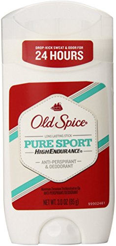 Old Spice High Endurance Invisible Solid Pure Sport Scent Men's Anti-Perspirant and Deodorant 3 Ounces (Pack of - Deodorant Endurance High Anti Perspirant