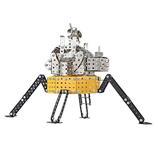PWTAO Erector Set STEM Toys NASA Apollo 11 Lunar Lander Building Blocks Metal Construction Kit Educational Toys Learning Toys for Boys Girls Kids of Ages 6 7 8 9 10 11 12 13 14 Years Old