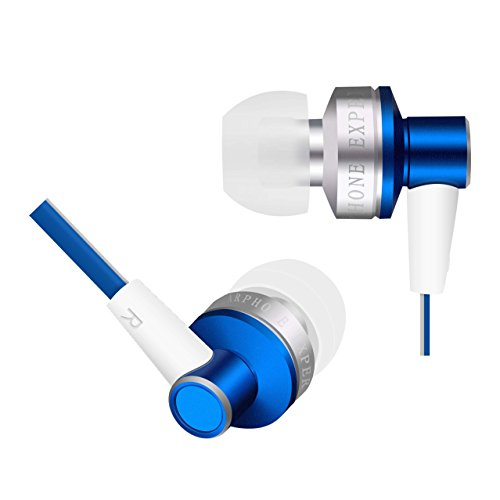 In Ear Wired Earphones, Arioso Stereo Bass Headpones 801 with Mic (Blue)