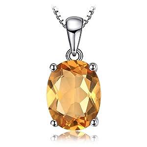 JewelryPalace Collier Pendentif Femme Filles en Argent Sterling 925 avec Topaz Citrine Grenat Améthyste Péridot Rond…