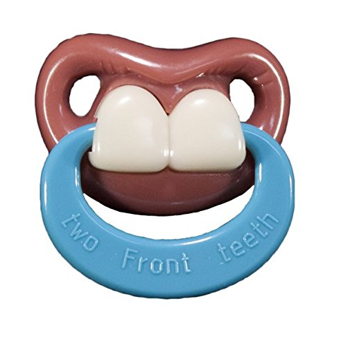 Two Front Teeth w/ Ring-Billy Bob Pacifier-Pacifier With Personality