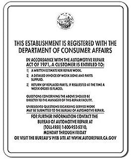 Bureau Of Automotive Repair (B.A.R.) Sign - 24x30