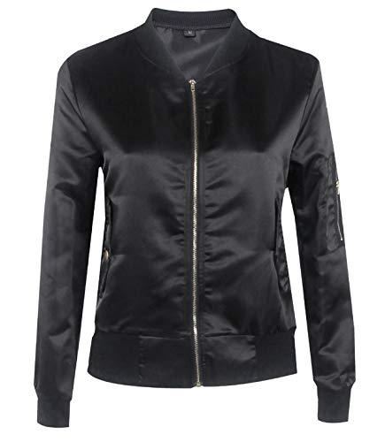 Coat Blouse Unita Tops fashion Autunno Cappotto Lunga Outerwear Moda Simple Primavera Giacche Tinta E Giacca Personalità Nero Donna Corto Bomber Jacket Manica Casual wSqPxx70