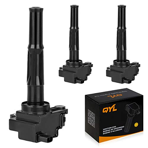 QYL Pack of 3 Ignition Coils Replacement for Toyota Tacoma Tundra 4Runner T100 1995-2004 3.4L V6 90919-02212 C1041 UF156 UF-156