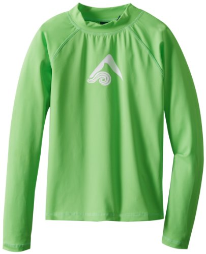 - Kanu Surf Big Boys' Platinum Long Sleeve Rashguards, Green, Small (8)