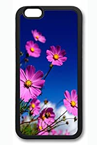 C Red Flowers Slim Hard Cover for iPhone 6 Case (4.7 inch) PC White Cases