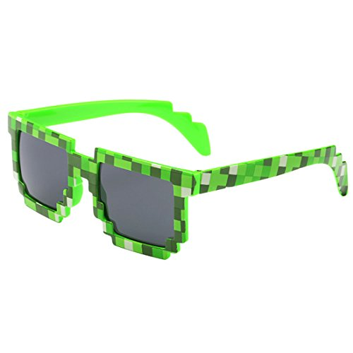 kilofly 10pc 8-Bit Pixel UV Protect Gamer Sunglasses Adult Kids Party Favors by kilofly (Image #2)